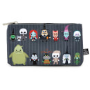 Loungefly Disney The Nightmare Before Christmas Chibi Characters Zippered Pouch