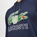 Lacoste Men's Large Logo Hoody - Navy