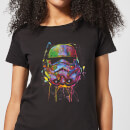Star Wars Paint Splat Stormtrooper Women's T-Shirt - Black