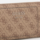 Guess Women's Kathryn Large Zip Around Wallet - Brown/Multi