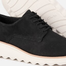 Clarks Women's Sharon Crystal Nubuck/Leather Lace Up Shoes - Black