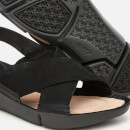 Clarks Women's Tri Chloe Cross Strap Sandals - Black Combi