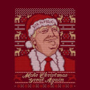 Make Christmas Great Again Men's Christmas T-Shirt - Burgundy