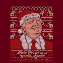 Make Christmas Great Again Women's Christmas T-Shirt - Burgundy
