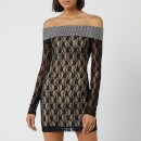 Christopher Kane Women's Mini Crystal Small Flo Dress - Black