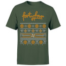 How Ridiculous Forty Four Knit Men's Christmas T-Shirt - Forest Green