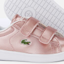 Lacoste Toddler's Carnaby Evo 119 6 Velcro Low Top Trainers - Pink/White