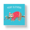 Merry Slothmas Square Greetings Card (14.8cm x 14.8cm)