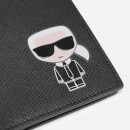 Karl Lagerfeld Women's K/Ikonik Travel Wallet - Black