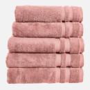 in homeware 100% Egyptian Cotton Pile 5 Piece Towel Bale - Blush