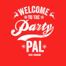 Die Hard Welcome To The Party Pal Christmas Hoodie - Red