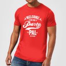 Die Hard Welcome To The Party Pal Men's Christmas T-Shirt - Red