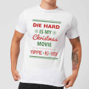 Die Hard Is My Christmas Movie Men's Christmas T-Shirt - White