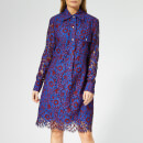 Calvin Klein Women's Lace Dress - Blue Lace