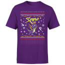 Spyro Knit Pattern Men's Christmas T-Shirt - Purple