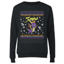 Spyro Knit Women's Christmas Sweatshirt - Black