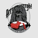 Star Wars Chewbacca Arrrrgh Socks Again Women's Christmas T-Shirt - Grey