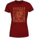 Harry Potter Gryffindor Crest Women's Christmas T-Shirt - Burgundy