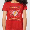 DC Flash Knit Women's Christmas T-Shirt - Red