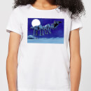 Star Wars AT-AT Darth Vader Sleigh Women's Christmas T-Shirt - White
