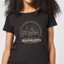 Harry Potter I'd Rather Stay At Hogwarts Women's Christmas T-Shirt - Black