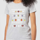 Muppets Pattern Women's Christmas T-Shirt - Grey