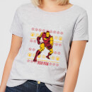 Marvel Iron Man Women's Christmas T-Shirt - Grey