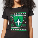 Guardians Of The Galaxy Badge Pattern Christmas Women's Christmas T-Shirt - Black