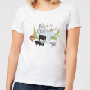 DC Nice Is Overrated Women's Christmas T-Shirt - White