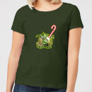 Star Wars Candy Cane Yoda Women's Christmas T-Shirt - Forest Green