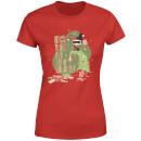 DC Heck Yeah I've Been Naughty! Women's Christmas T-Shirt - Red