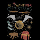 Harry Potter All I Want Women's Christmas T-Shirt - Black