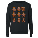 Star Wars Gingerbread Characters Women's Christmas Sweatshirt - Black