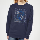 Harry Potter Ravenclaw Crest Women's Christmas Sweatshirt - Navy