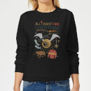 Harry Potter All I Want Women's Christmas Sweatshirt - Black