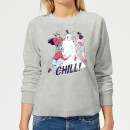 DC Chill! Women's Christmas Sweatshirt - Grey