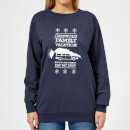 National Lampoon Griswold Vacation Ugly Knit Women's Christmas Sweatshirt - Navy