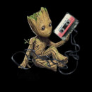 Guardians Of The Galaxy Groot Tape Women's Christmas Sweatshirt - Black