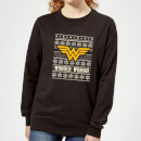 DC Wonder Woman Women's Christmas Sweatshirt - Black