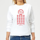 National Lampoon Jelly Of The Month Club Women's Christmas Sweatshirt - White