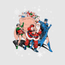 DC Batman Robin Santa Claus Women's Christmas Sweatshirt - Grey