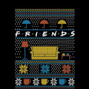 Friends Sofa Knit Women's Christmas Sweatshirt - Black