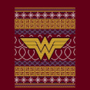 DC Wonder Woman Knit Women's Christmas Sweatshirt - Burgundy