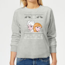 Disney Frozen Elsa and Anna Women's Christmas Sweatshirt - Grey