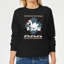 Disney Frozen Olaf and Snowmen Women's Christmas Sweatshirt - Black