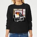 Star Wars Darth Vader Piano Player Women's Christmas Sweatshirt - Black