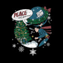 DC Superman Peace On Earth Women's Christmas Sweatshirt - Black