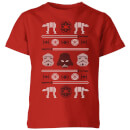 Star Wars Imperial Knit Kids' Christmas T-Shirt - Red