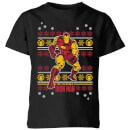 Marvel Iron Man Kids' Christmas T-Shirt - Black