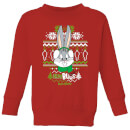 Looney Tunes Bugs Bunny Knit Kids' Christmas Sweatshirt - Red